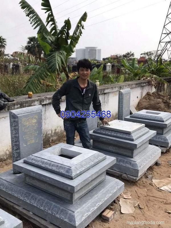 Mẫu mộ đá đẹp chuẩn kích thước lỗ ban chất lượng tốt giá rẻ