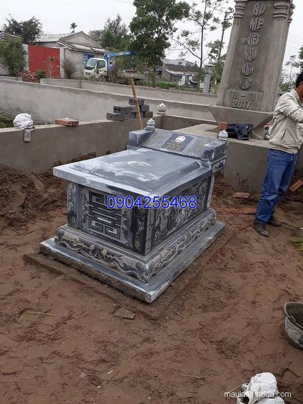 Mẫu mộ đá đẹp chuẩn kích thước lỗ ban chất lượng tốt giá tốt
