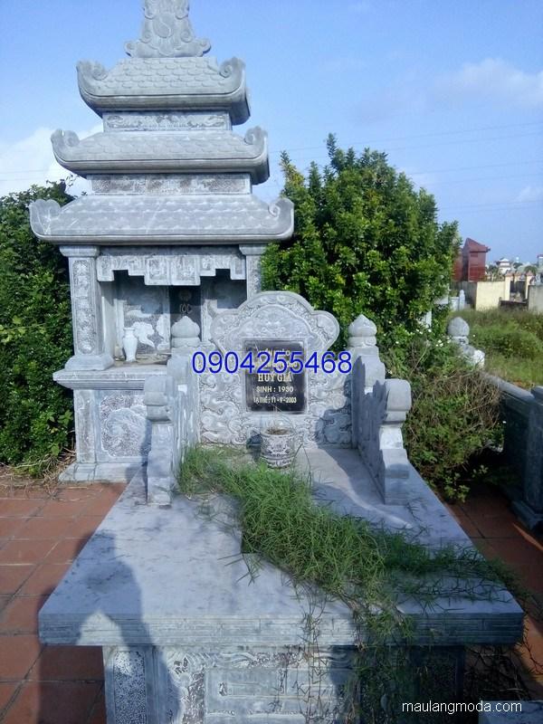 Mộ đá ba mái đẹp chạm khắc tinh xảo chất lượng tốt giá rẻ