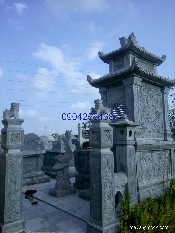 Mộ đá hai mái đẹp chuẩn kích thước lỗ ban chất lượng cao giá rẻ
