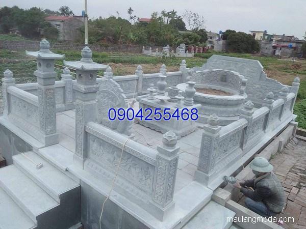 Mẫu mộ đá tròn đẹp hợp phong thủy chất lượng cao giá hợp lý