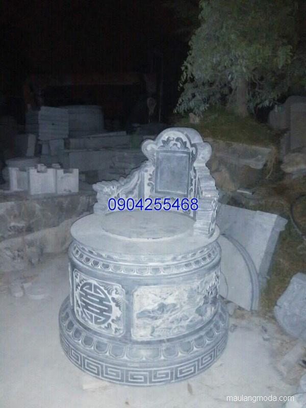 Mẫu mộ đá tròn đẹp hợp phong thủy chất lượng tốt giá tốt