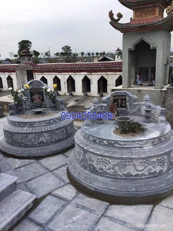 Mẫu mộ đá tròn đẹp hợp phong thủy chất lượng tốt giá hợp lý