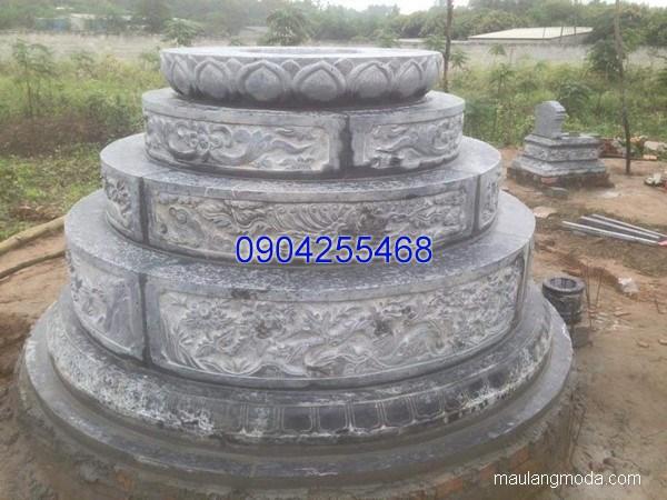 Mẫu mộ đá tròn đẹp chuẩn phong thủy chất lượng tốt giá hợp lý