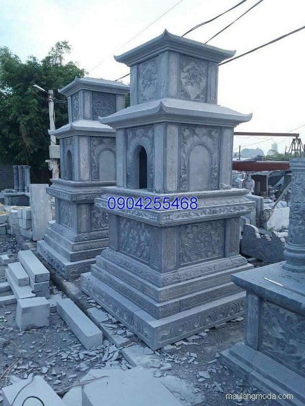 Mộ tháp đá nguyên khối đẹp chuẩn kích thước lỗ ban chất lượng cao giá tốt