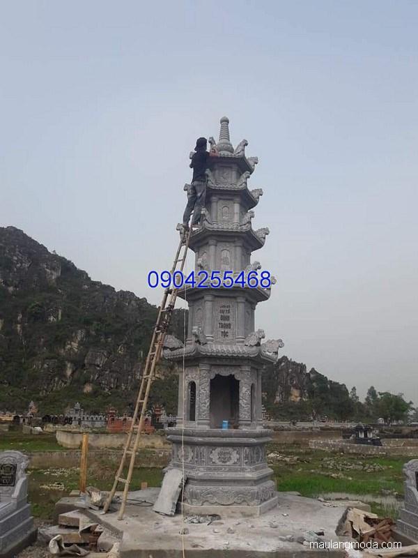 Mộ tháp đá đẹp hợp phong thủy chất lượng tốt giá tốt