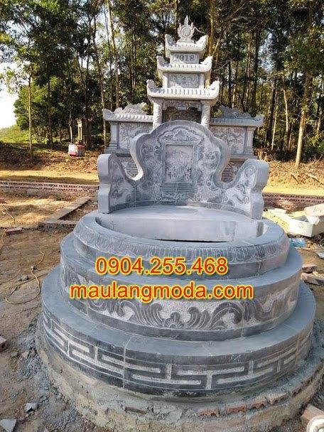mộ đá tròn,mộ tròn phong thủy,mộ hình tròn,Kích thước xây mẫu mộ đá tròn đẹp chuẩn phong thủy