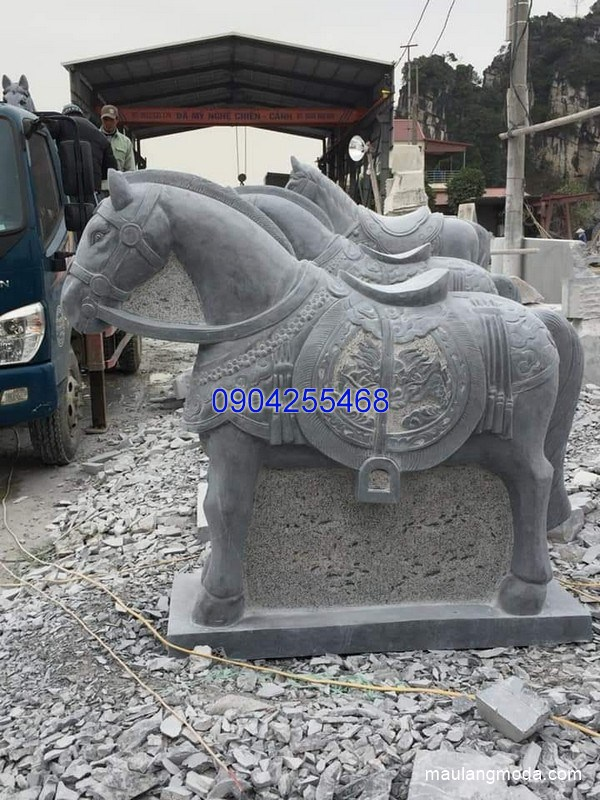 Tượng ngựa đá phong thủy đẹp nhất chất lượng tốt giá tốt
