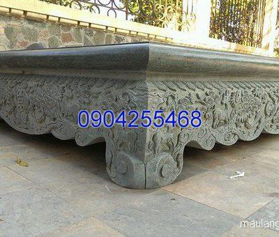 Sập đá khối thiết kế tinh xảo chất lượng tốt giá hợp lý