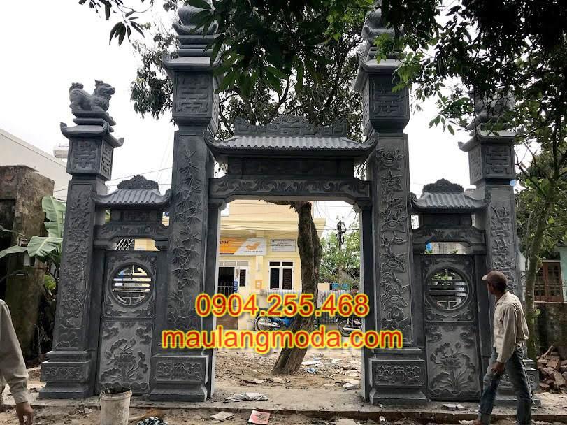 Ý nghĩa kiến trúc cổng tam quan đá phong thủy, mẫu cổng đá tam quan có mái,mẫucổng đá đẹp, các mẫu cổng tam quan,cổng đá đẹp