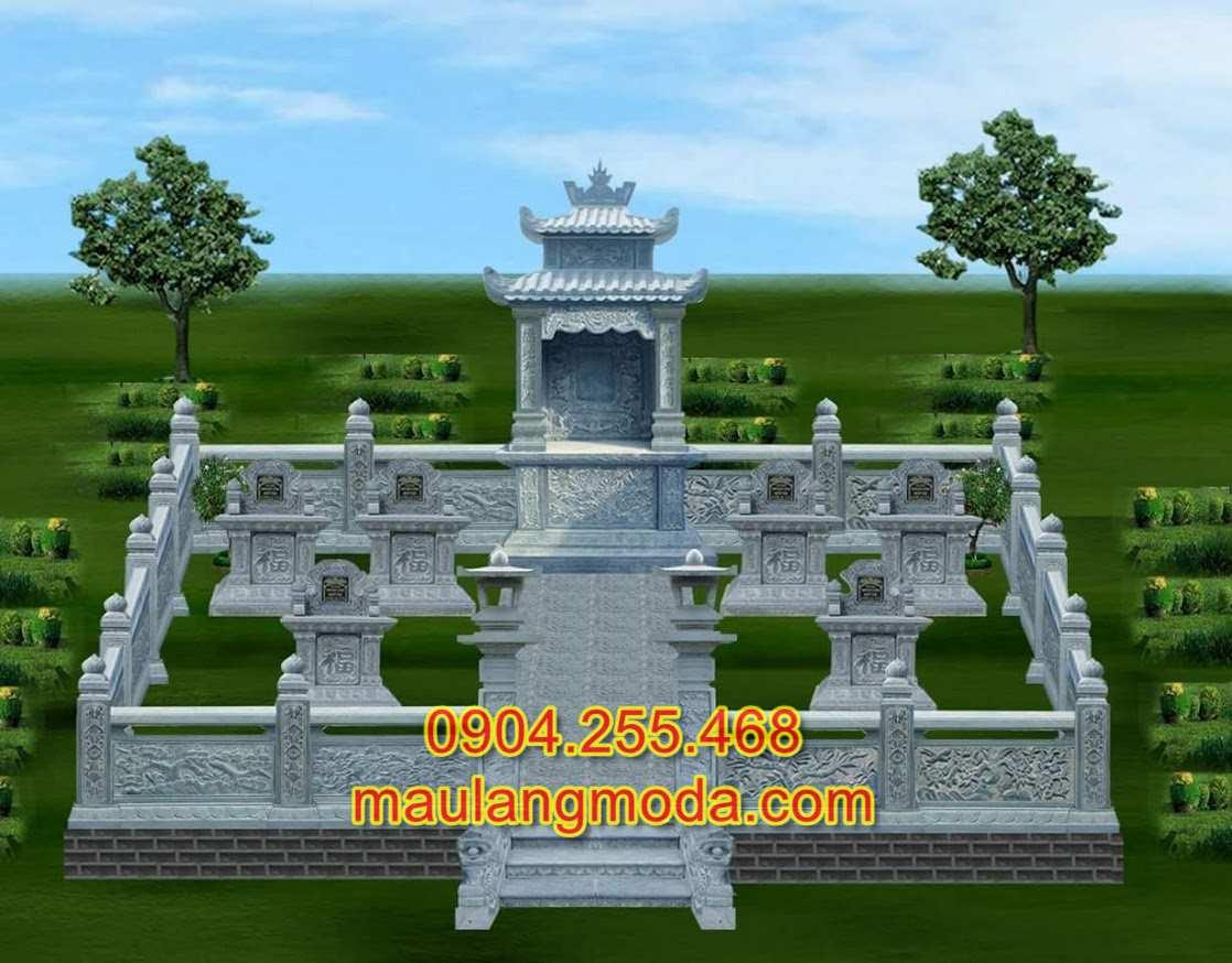 bản thiết kế khu lăng mộ đá xanh đẹp, bản vẽ khu lăng mộ đá xanh