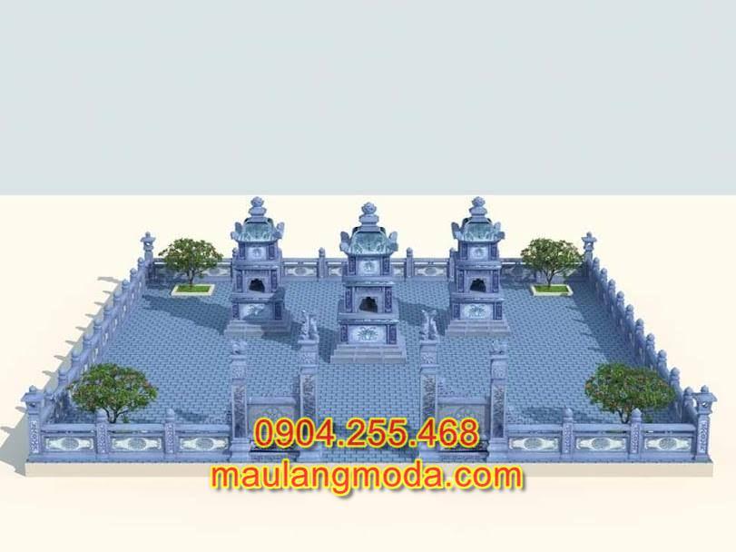 Bản thiết kế khu lăng mộ đá dòng họ độc đáo, bản thiết kế lăng mộ đá đẹp,bản thiết kế lăng mộ đá