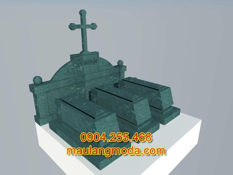 Bản thiết kế mộ đá đẹp, bản thiết kế mộ đá công giáo, bản thiết kế mộ đá xanh