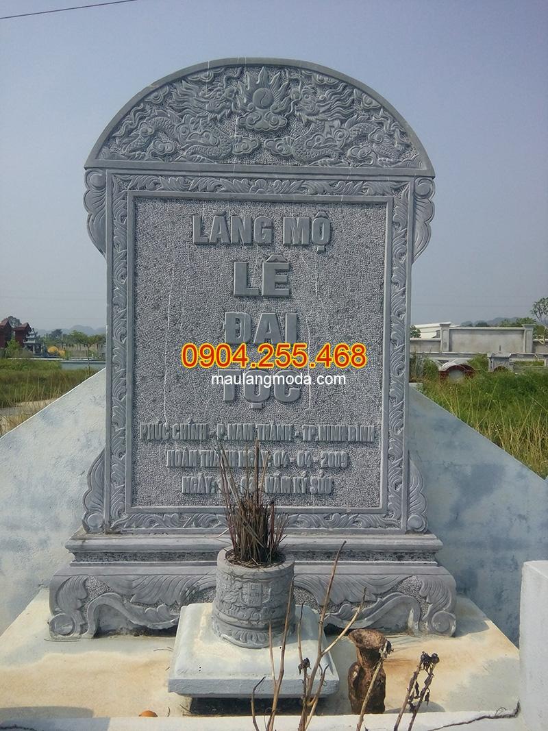 Bia mộ đá khắc đẹp - Đá mỹ nghệ Hà An