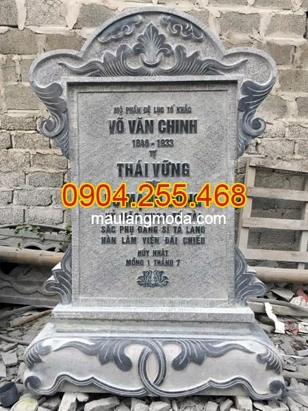 Cách ghi thông tin trên bia mộ