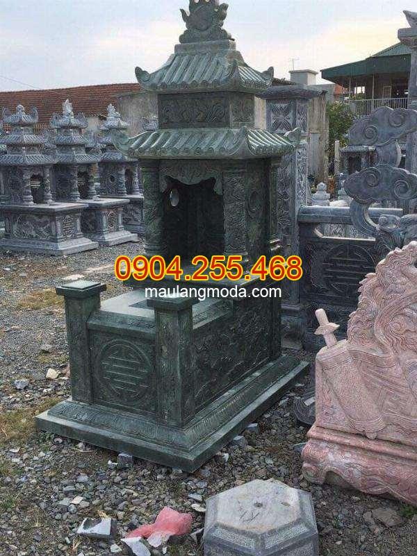 Cách xây mộ cải táng mang tại lộc cho con cháu, cách xây mộ cải táng, xây mộ cải táng bằng đá xanh rêu