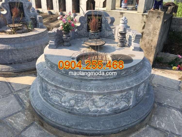 Cách xây mộ đá tròn cải táng
