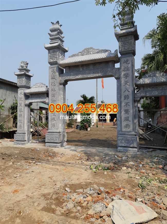 Làm cổng đá nhà thờ họ tại Hải Phòng; lắp đặt cổng đá nhà thờ họ tại Hải Phòng;