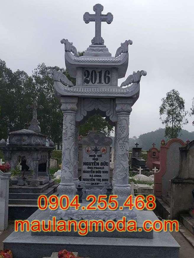 Làm mộ đá công giáo tại Tiền Giang, làm mộ đá đôi tại Tiền Giang, làm lăng mộ tại Tiền Giang, làm mộ đá tháp tại Tiền Giang