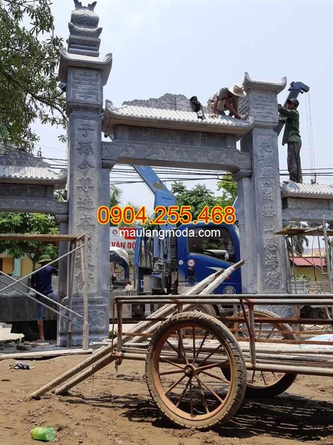 Thi công cổng đá tại Hải Phòng, lắp đặt cổng đá tại Hải Phòng