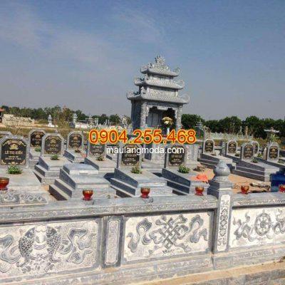 Mẫu lăng mộ đá xanh đen đẹp Ninh Bình
