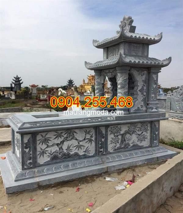 23 mẫu mộ đá hai mái đẹp kích thước chuẩn phong thủy, mẫu mộ hai mái đẹp