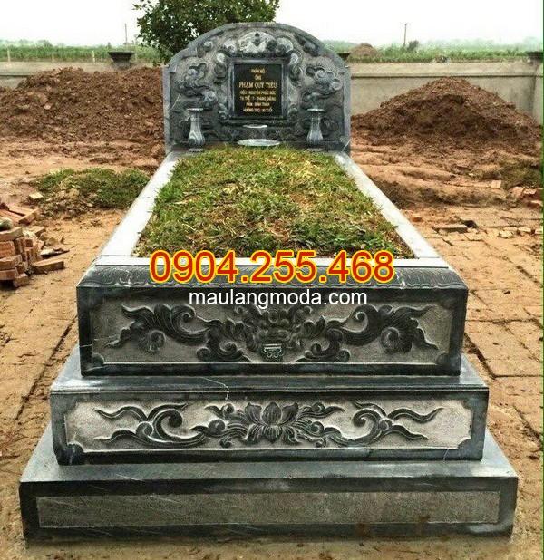 Cách xây mẫu mộ đá tam cấp đẹp đơn giản chuẩn phong thủy, Xây mẫu mộ đơn giản, làm mẫu mộ đá tam cấp đẹp đơn giản