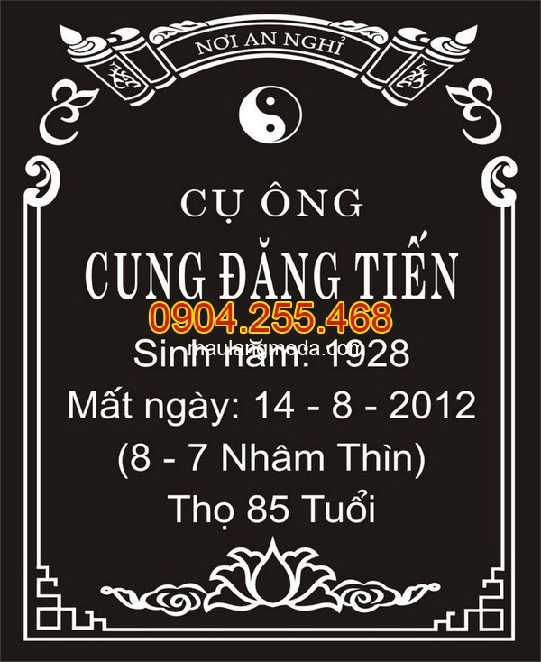 Mẫu bia mộ bằng đá đẹp tại Ninh Bình