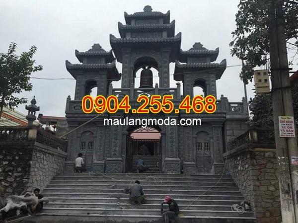 Mẫu cổng chùa có mái đẹp nhất hiện nay