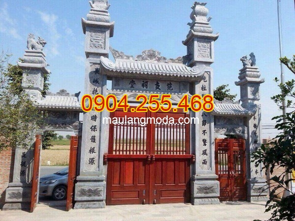Mẫu cổng tam quan chùa đẹp bằng đá, mẫu cổng chùa đẹp, cổng chùa đá đẹp