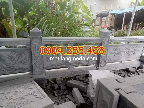 Mẫu hàng rào đá khu lăng mộ, Mẫu tường rào khu alwng mộ bằng đá xanh, hàng rào đá lăng mộ