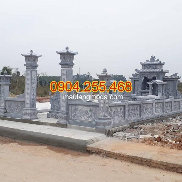 Mẫu hàng rào khu lăng mộ bằng đá xanh, Hàng rào khu lăng mộ bằng đá xanh