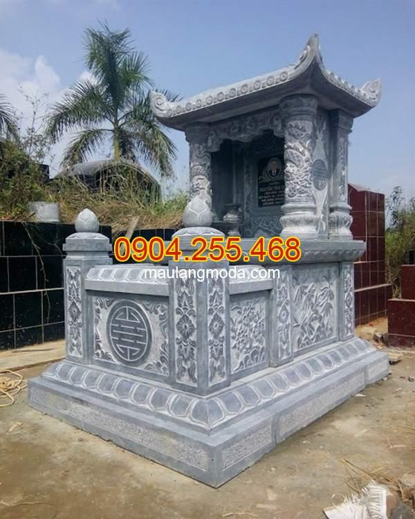 Mẫu mộ đá đơn một mái kích thước chuẩn phong thủy