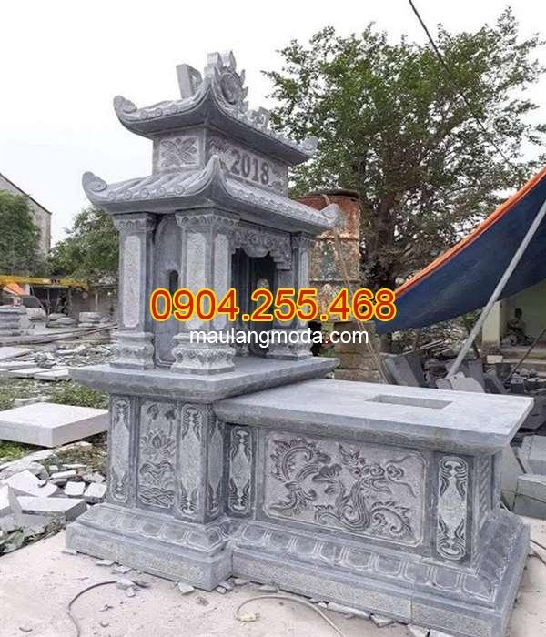 Mẫu mộ hai đao bằng đá xanh