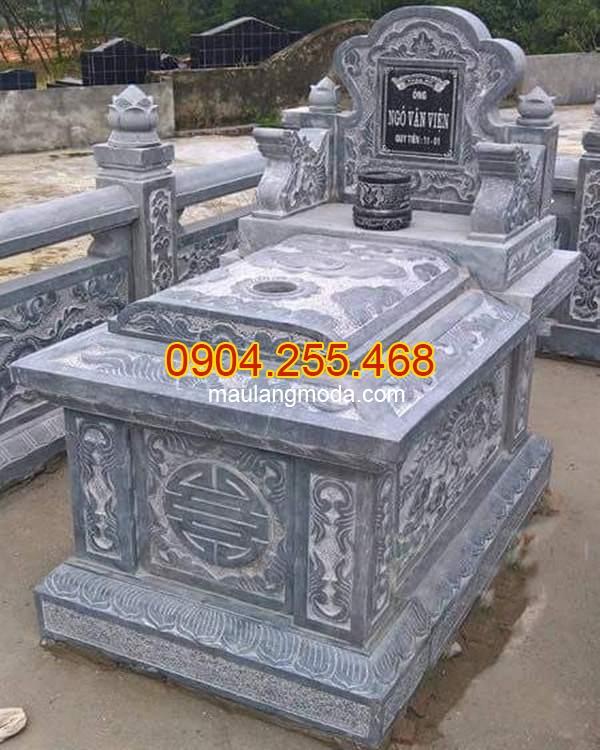 Mẫu mộ hậu bành đá đẹp, Những mẫu mộ đá không mái đẹp đơn giản nhất hiện nay 02
