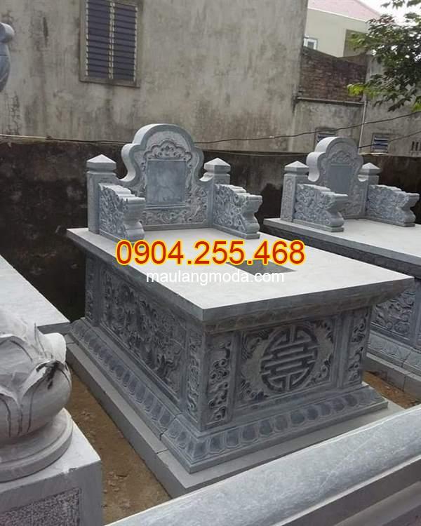 Mẫu mộ không mái bằng đá đẹp