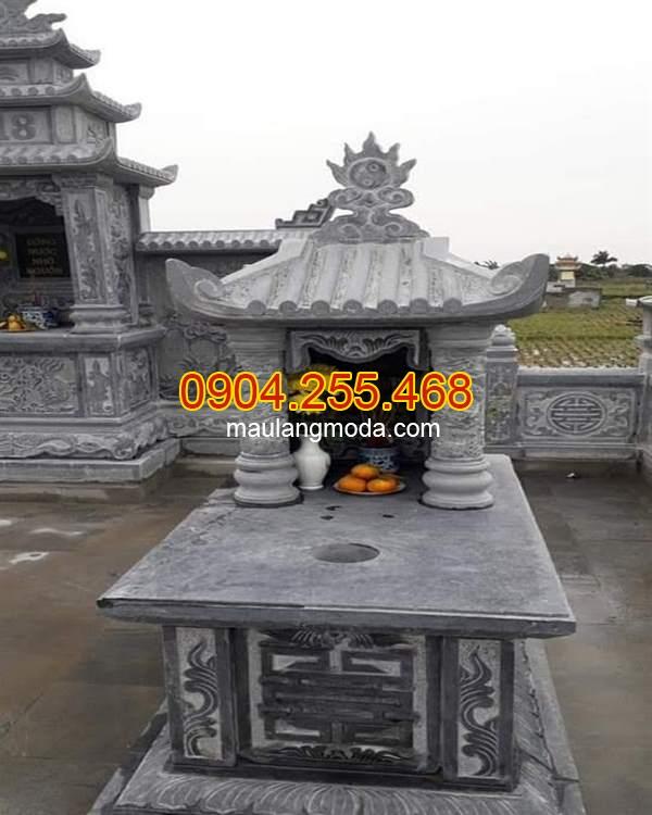 Mẫu mộ một mái bằng đá đẹp, Top 95 mẫu mộ đá một mái đẹp giá rẻ tại Ninh Bình 05, mẫu mộ đá xanh Ninh Bình, lăng mộ một mái đẹp