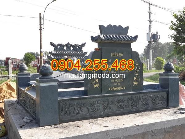 Thi công lắp đặt mộ đá tại Củ Chi, lắp đặt mộ đôi bằng đá xanh rêu tại Củ chi, làm mộ đôi bằng đá xanh rêu tại Củ Chi