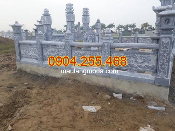 Tường rào lăng mộ bằng đá xanh, tường rào khu lăng mộ đẹp nhất 2019