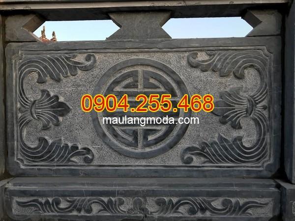 Hàng rào đá lăng mộ đơn giản, Mẫu Hàng rào đá lăng mộ đơn giản, tường rào đá khu lăng mộ đơn giản