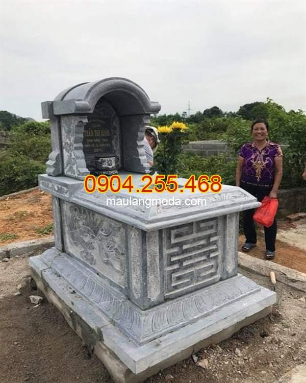 Mẫu mộ một mái đẹp giá rẻ, Top 95 mẫu mộ đá một mái đẹp giá rẻ tại Ninh Bình 04