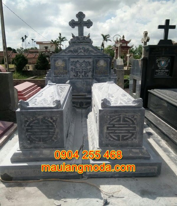 Khu lăng mộ công giáo, mẫu khu lăng mộ công giáo đẹp, khu lăng mộ công giáo bằng đá