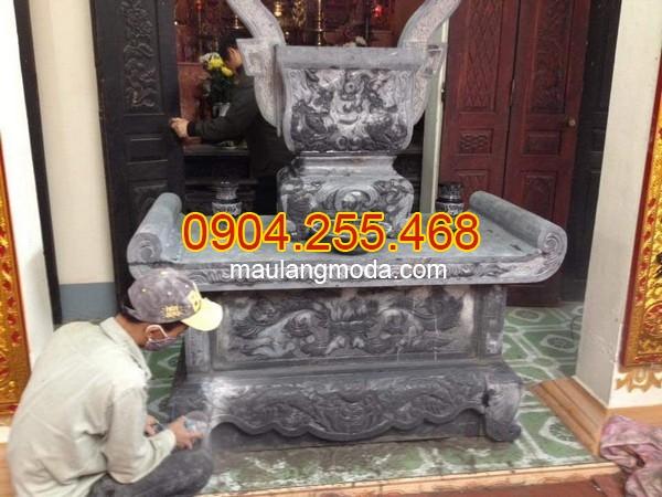 Kích thước bàn lễ đá chuẩn phong thủy, Cấu tạo bàn lễ đá, kích thước bàn thờ đá