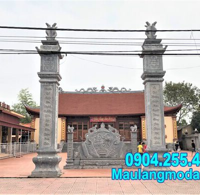 Cổng tam quan chùa đẹp - Mẫu cổng đền chùa đẹp bằng đá tự nhiên