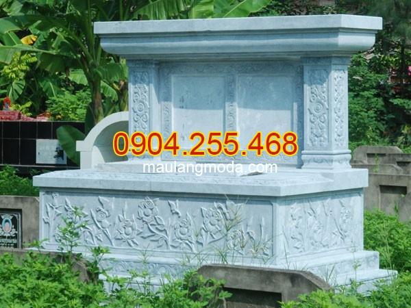 Mộ đá đôi nguyên khối đẹp thiết kế cao cấp chất lượng tốt giá hợp lý