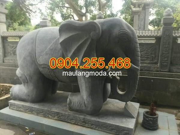Tượng voi bằng đá đẹp, Mẫu tượng voi bằng đá đẹp, voi bằng đá giá rẻ, Tượng voi đá phong thủy trong văn hóa người Việt 05