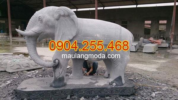 Tượng voi đá phong thủy, Tượng voi đá phong thủy trong văn hóa người Việt 01, Mẫu tượng voi đá phong thủy đẹp, tượng voi phong thủy, cách đặt voi đá theo phong thủy