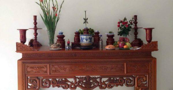 Bài khấn chuyển bàn thờ gia tiên và cách sắm lễ cúng chuyển bàn thờ