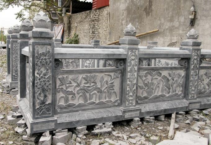 Lan can đá, báo giá lan can đá xanh Ninh Bình 2019
