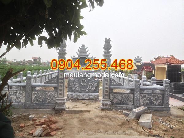 Lăng mộ đá xanh đen - Nhận thiết kế, thi công lăng mộ đá xanh đen 2019